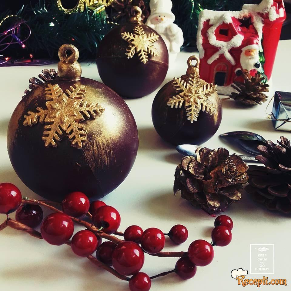 Božićne čoko kugle