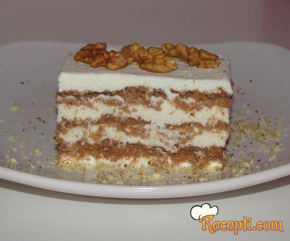 Napolitanka bianca torta