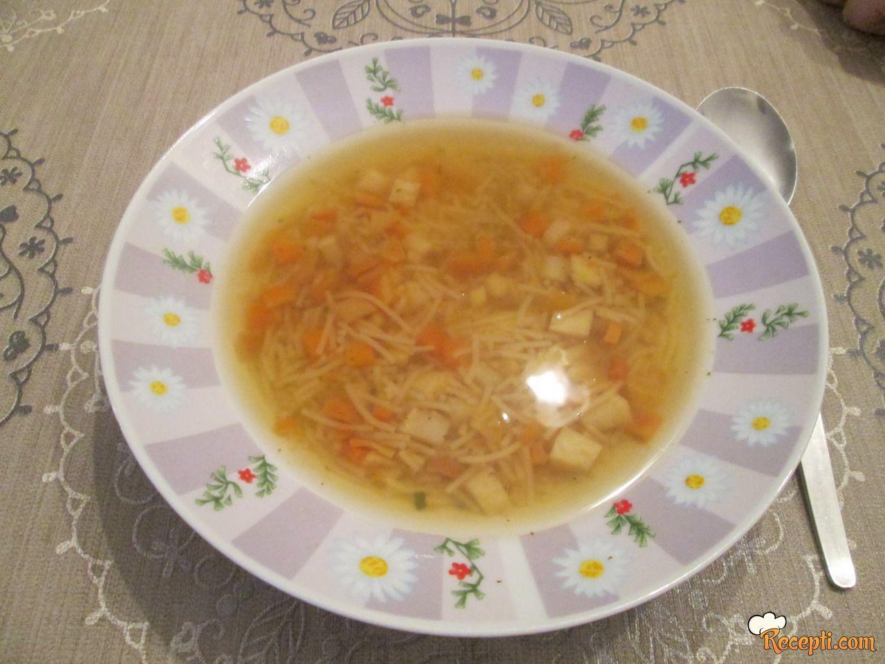 Posna supa sa povrćem (na vodi)