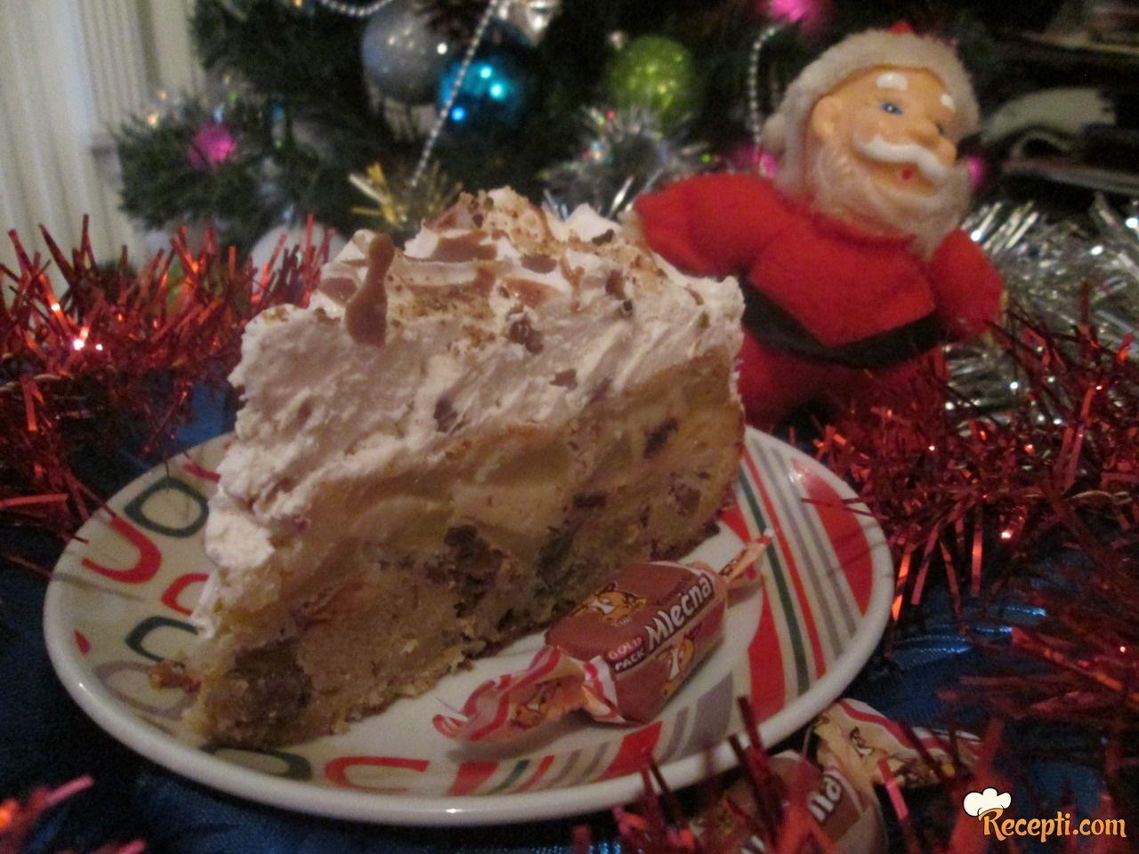 Prevrnuta torta sa jabukama i lešnik karamelama