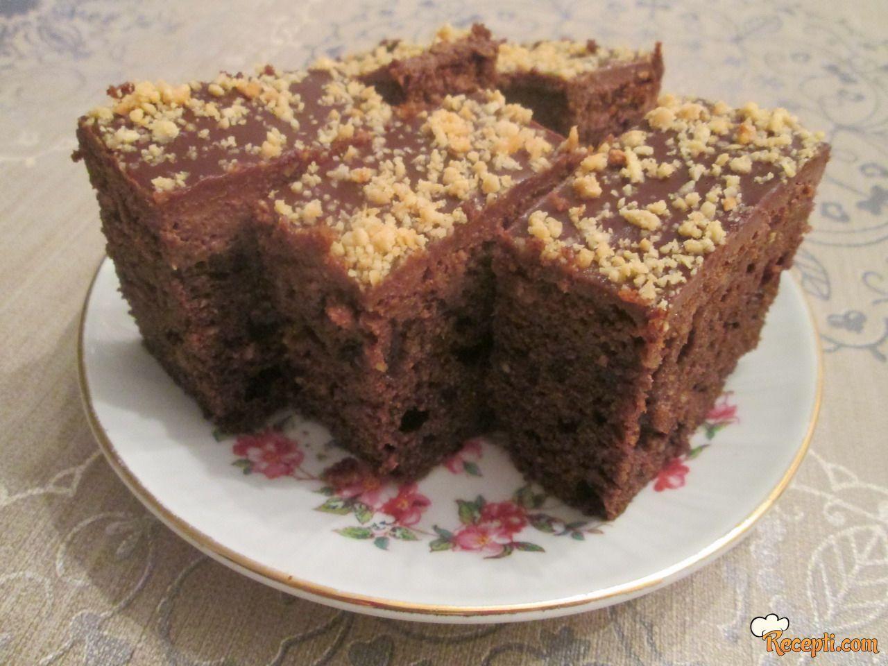 Čokoladni kolač sa kikirikijem