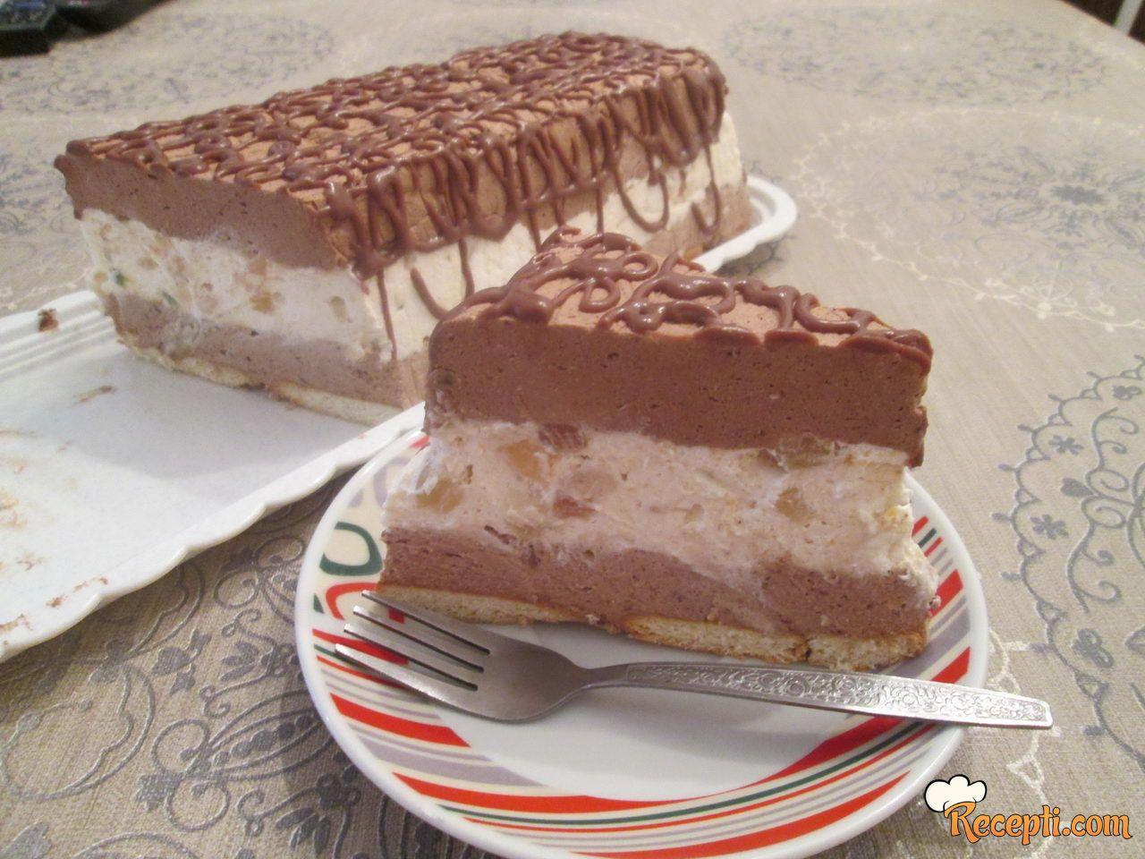 Voćna torta sa tri vrste čokolade