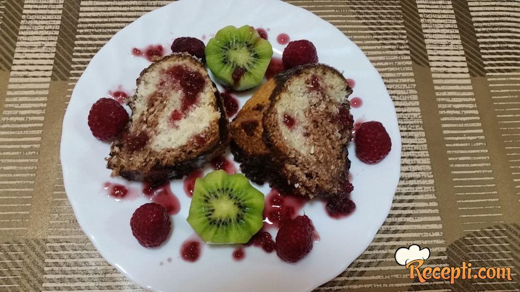 Crno beli posni kokos kolač
