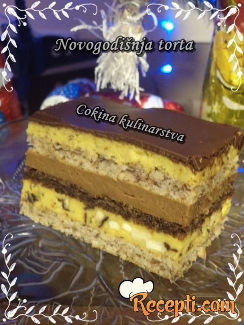 Čoko-lešnik torta (Novogodišnja torta)