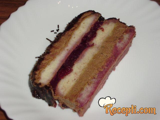 Torta sa višnjama i piškotama