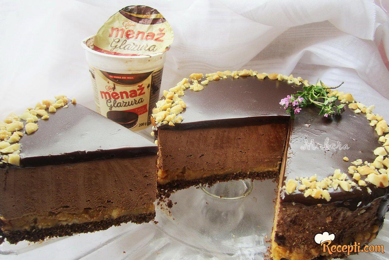 Čokoladna mousse torta sa kikirikijem i karamelom