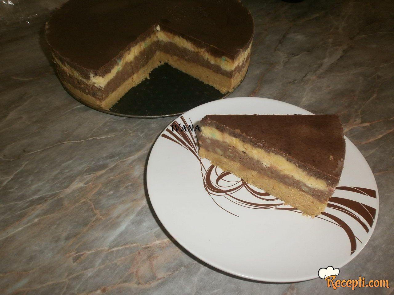 Čokoladna torta sa keksom