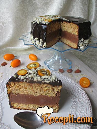 Čoko-oranž torta bez brašna i šećera