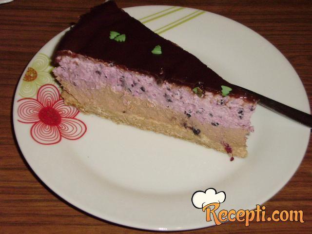 Torta - čokolada, kupine, sir