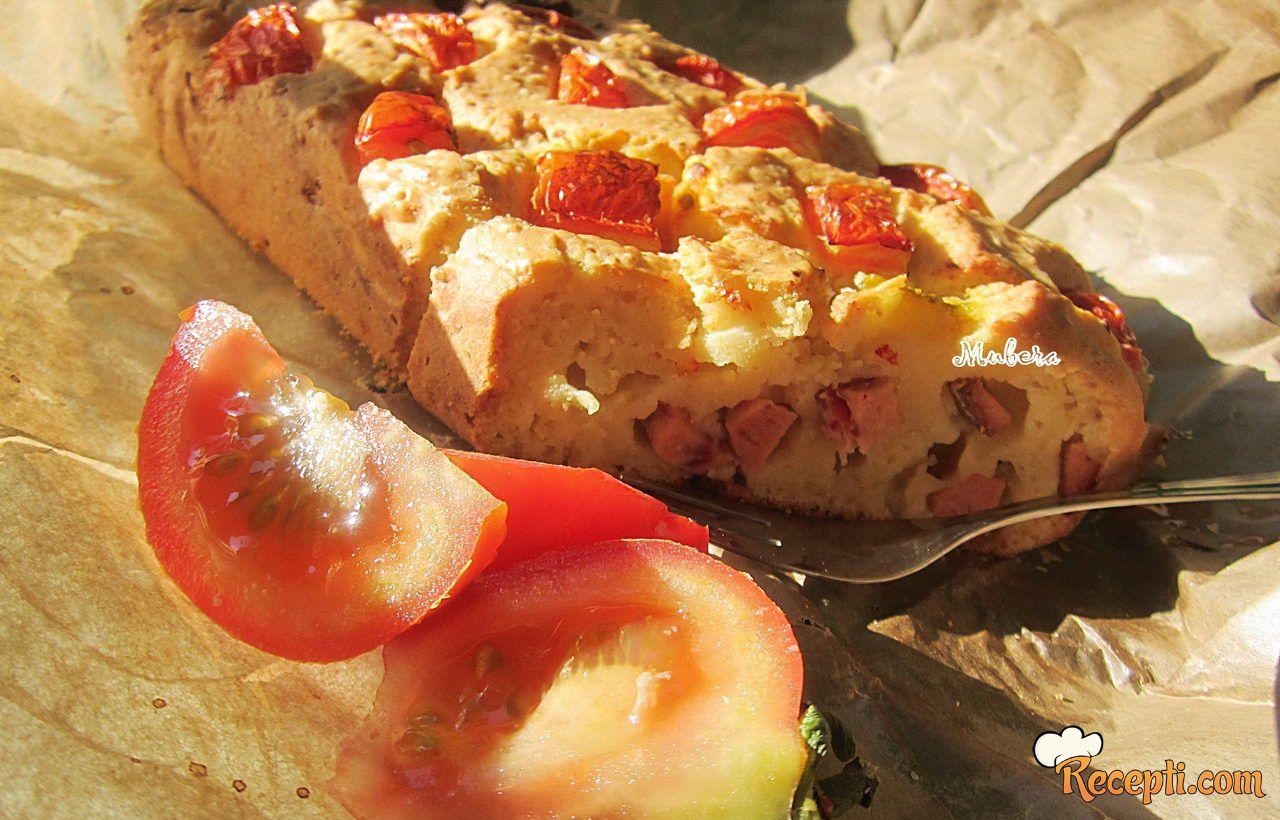 Slani kolač sa paradajzom i sirom