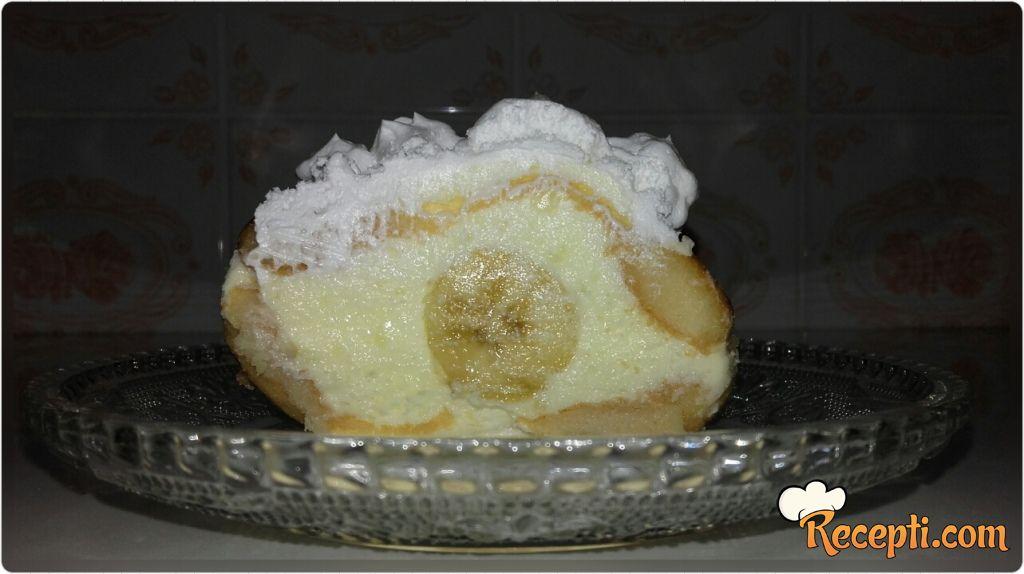 Banana kolač sa piškotama