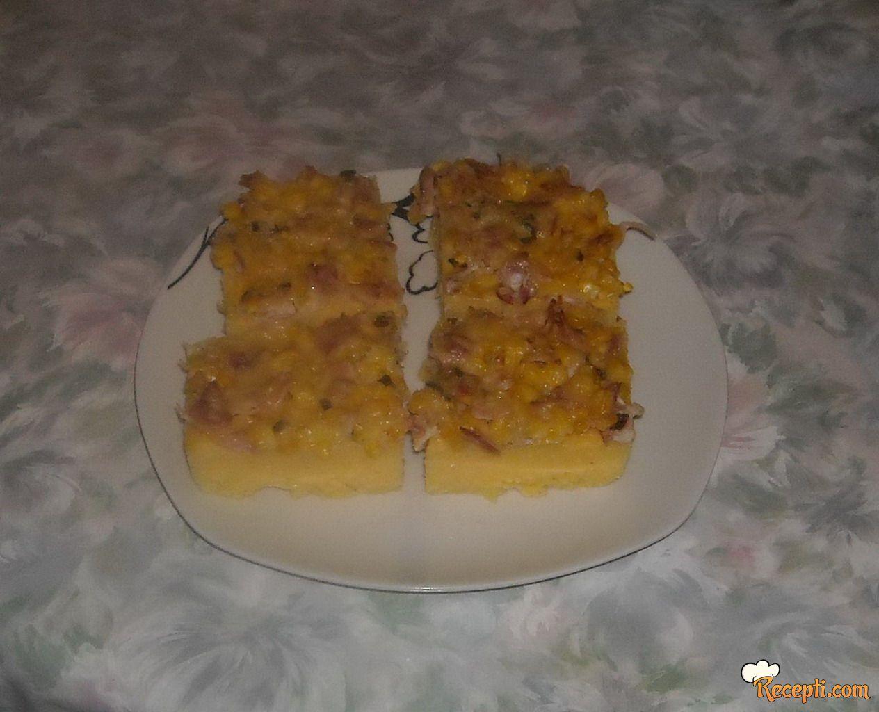 Palenta kocke sa šećercem i slaninom