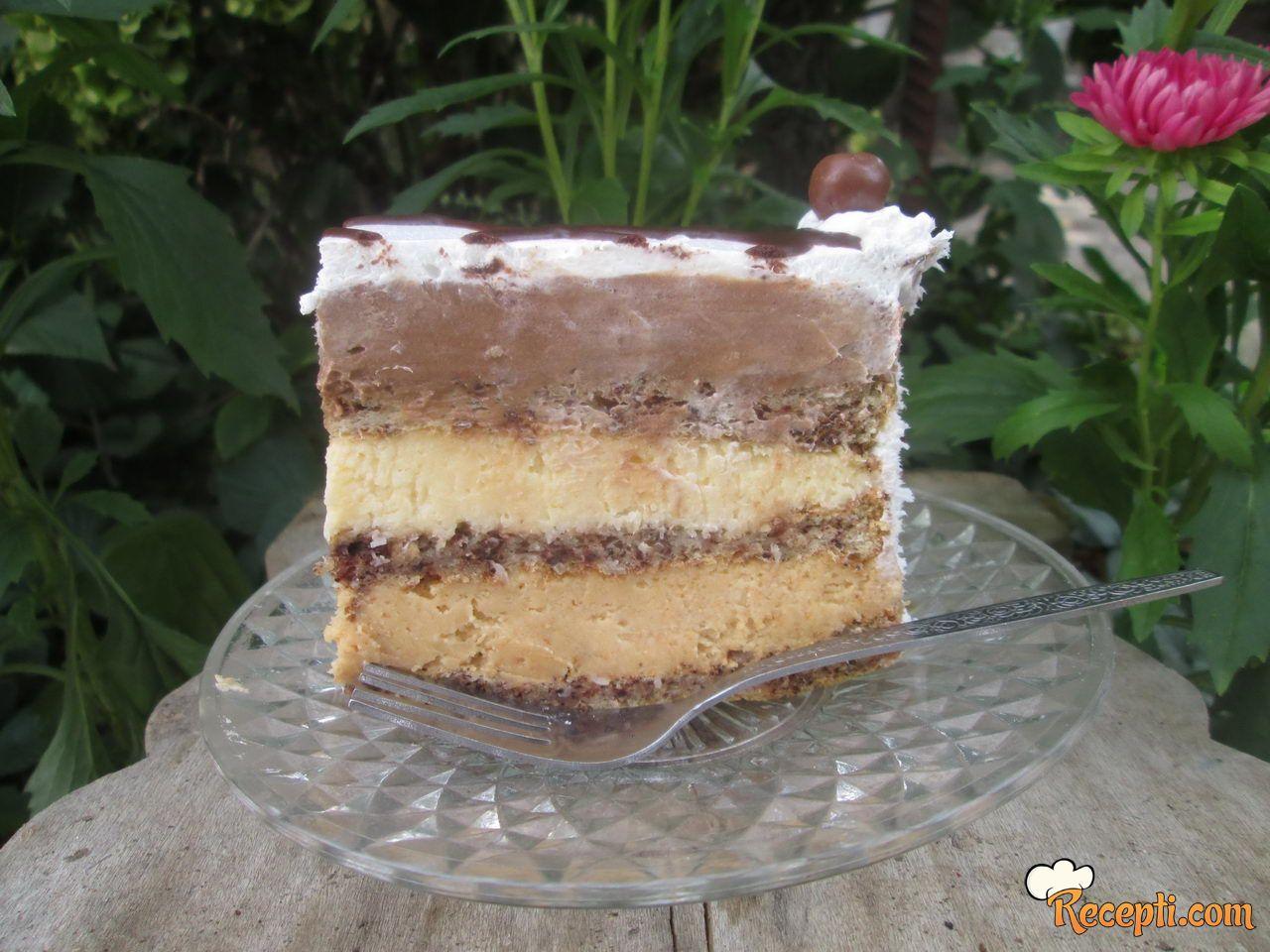 Čokoladna - kokos torta