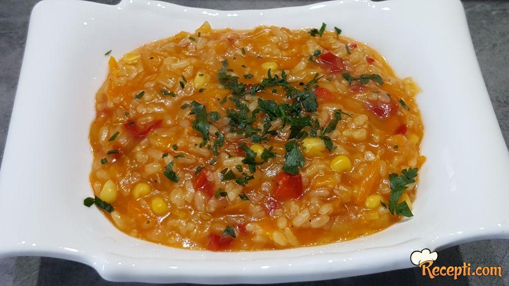 Kremasti rižoto sa povrćem