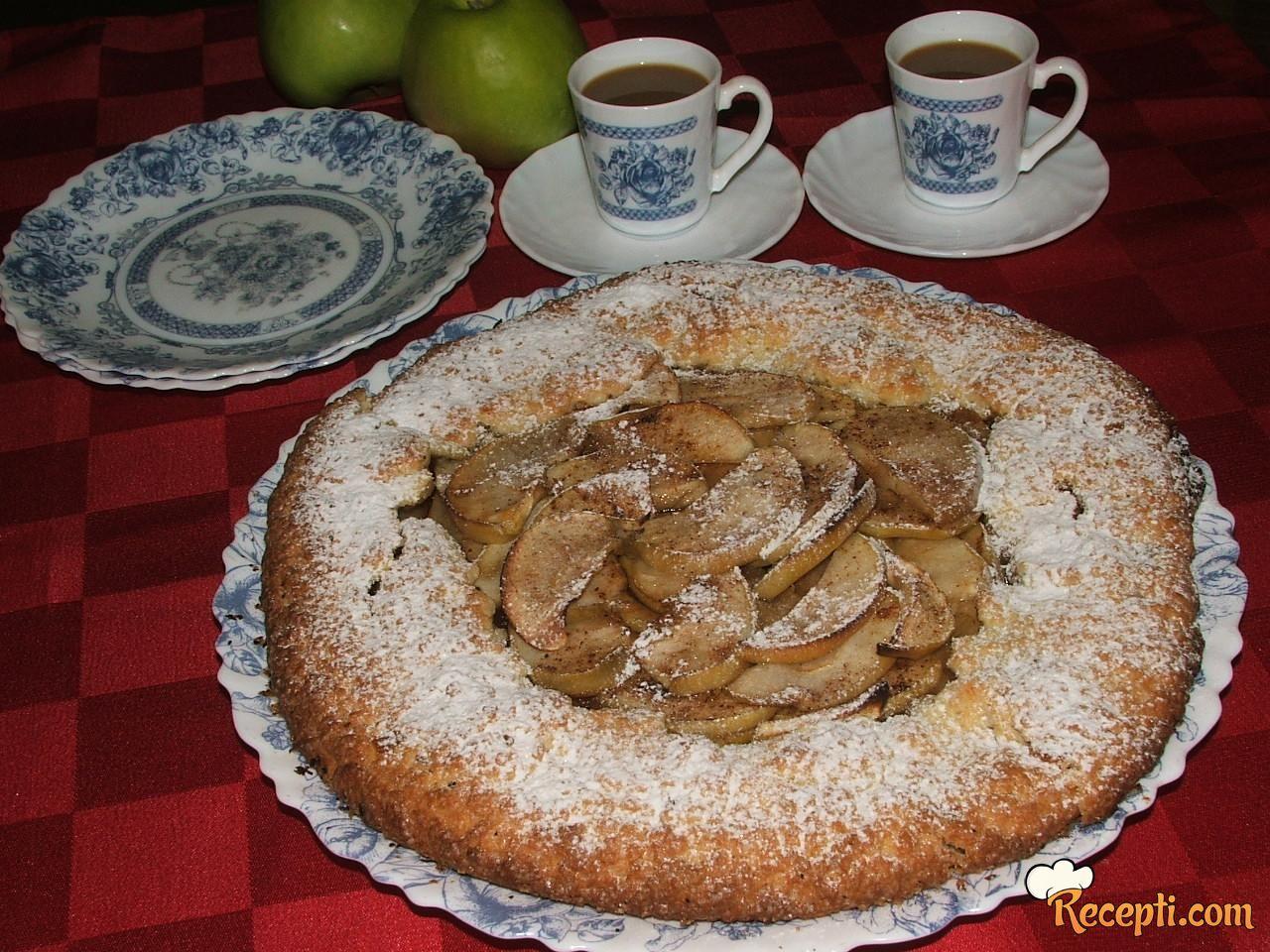 Rustična pita sa jabukama