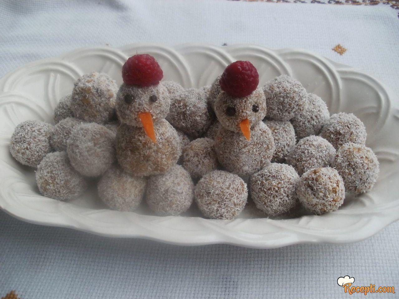 Pšenične kuglice - Sneško belić