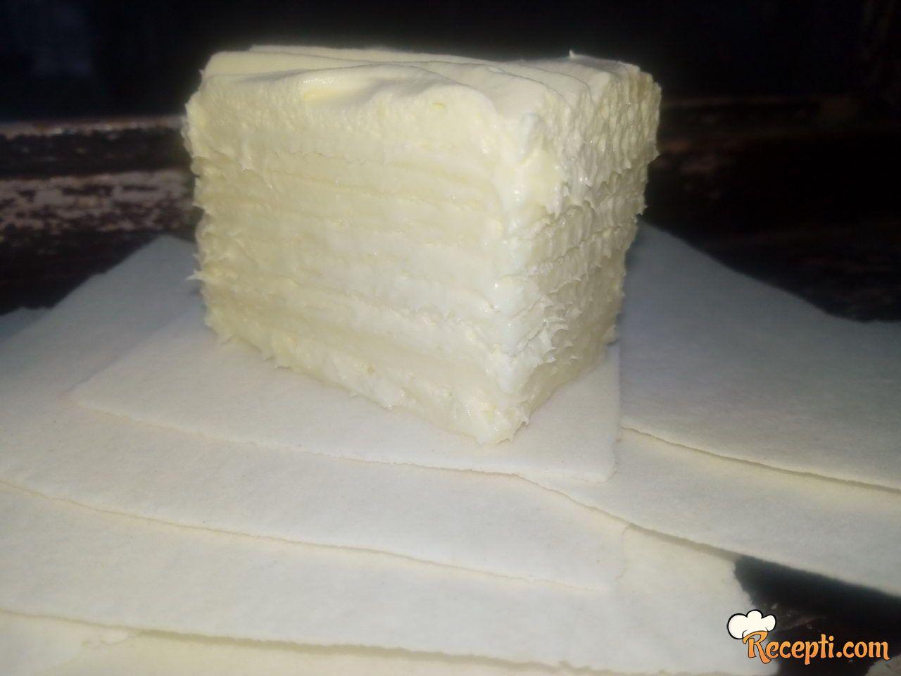 Rozen torta (sa belom milka čokoladom)
