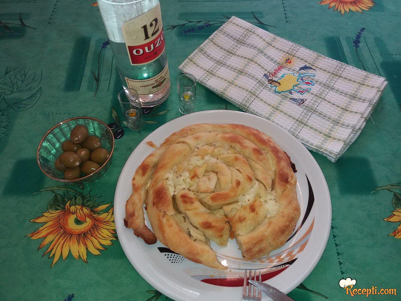 Tiganopsomo Grčka pita iz tiganja