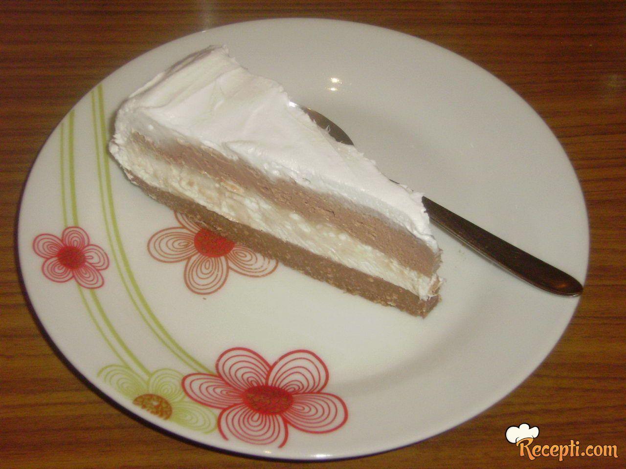 Crno beli cheesecake