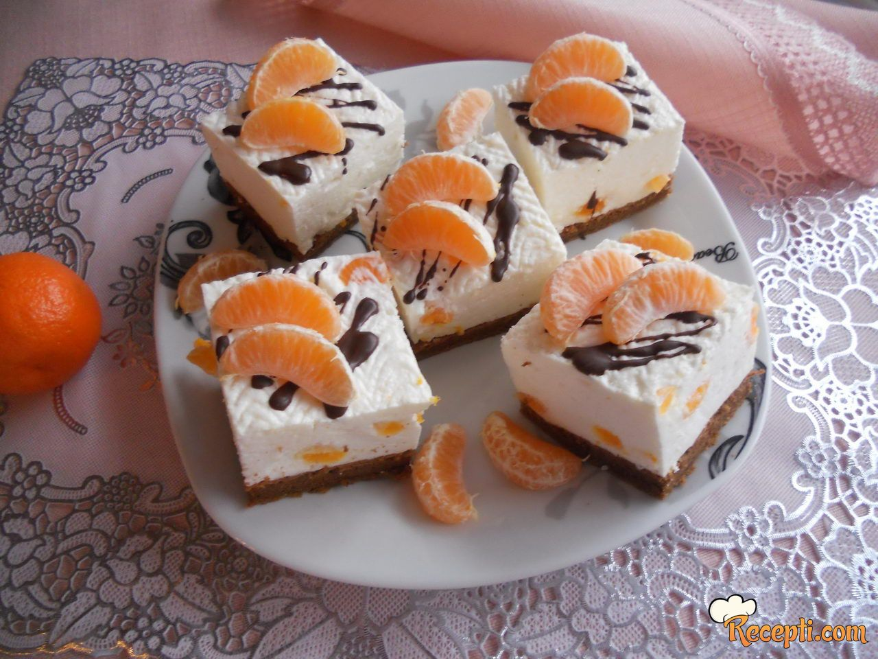Kocke od kefira sa mandarinama
