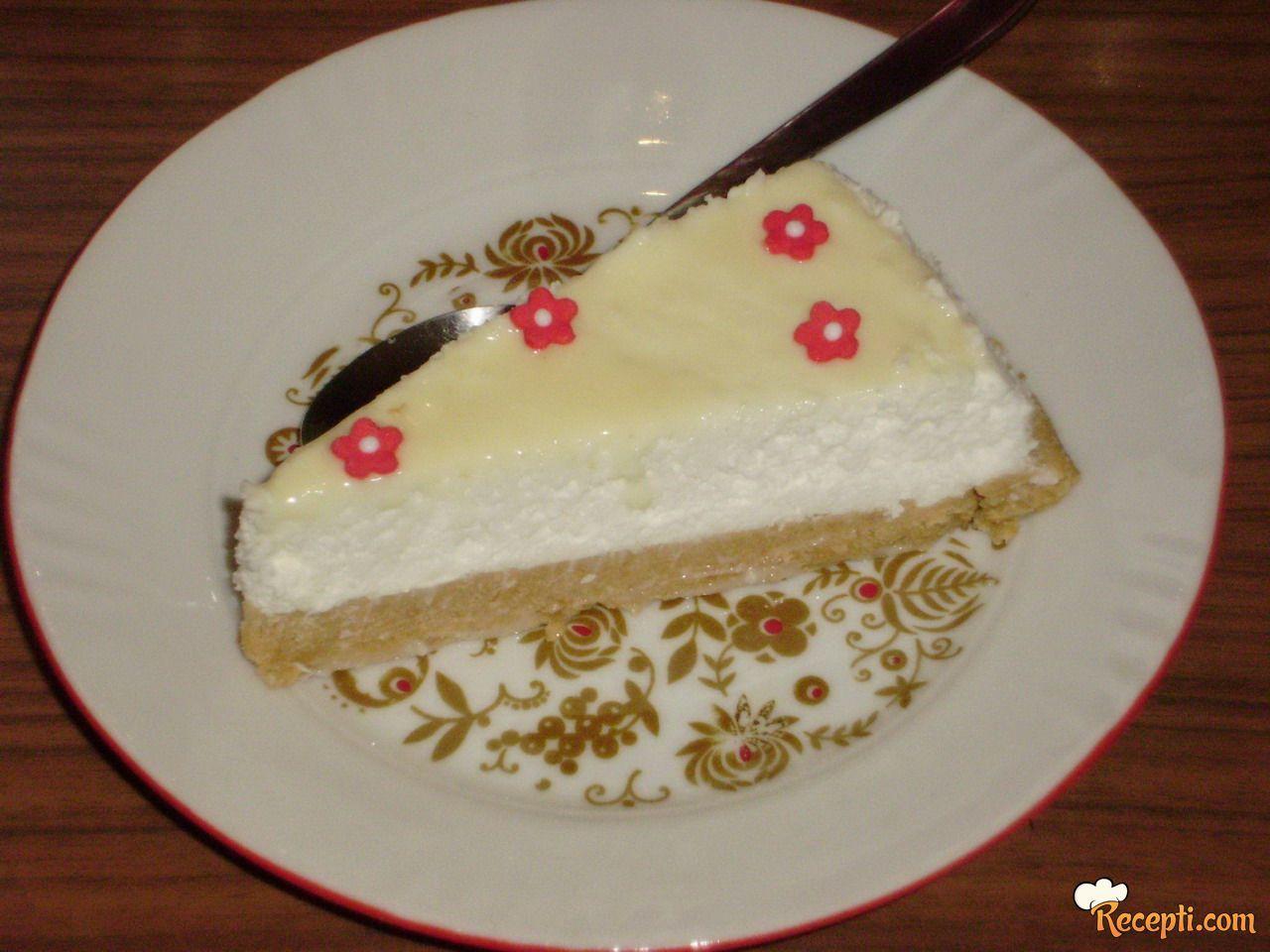 Cheesecake sa kokosom i belom čokoladom