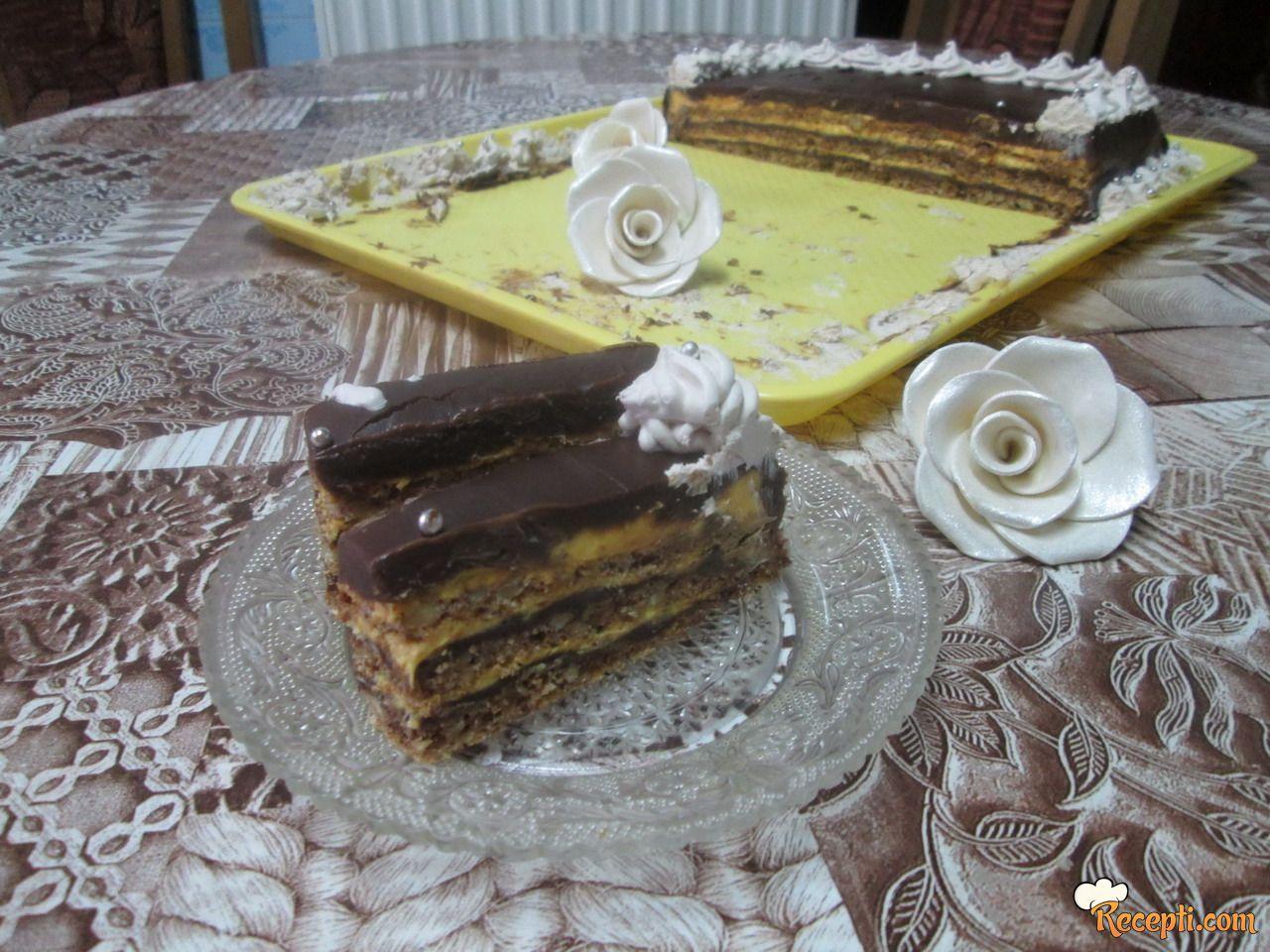 Čokoladno - karamel torta