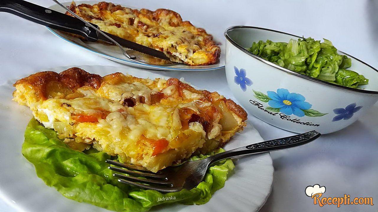 Tikvice sa sirom i mladim krompirom