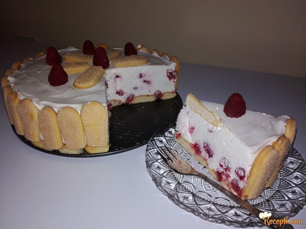 Brzi letnji kolač sa malinama