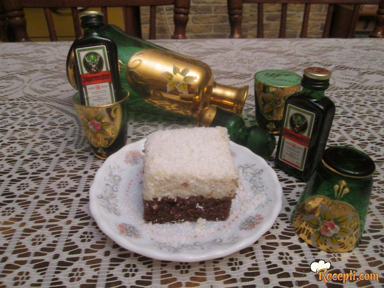 Kokos kolač sa kafom