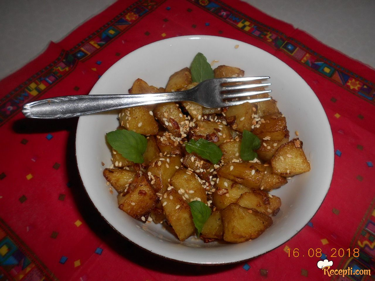Krompir sa susamom i soja sosom