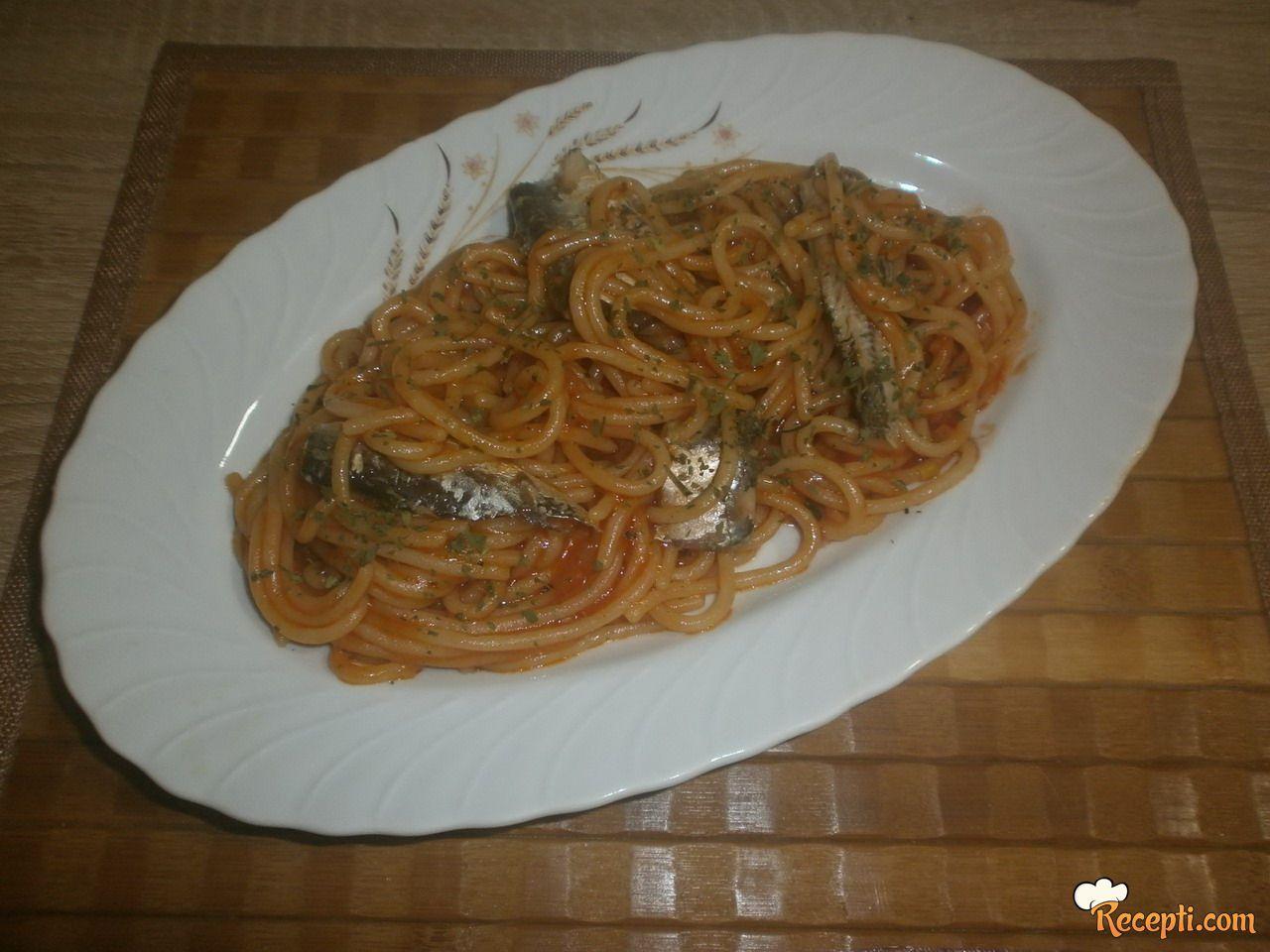 Špagete sa sardinama