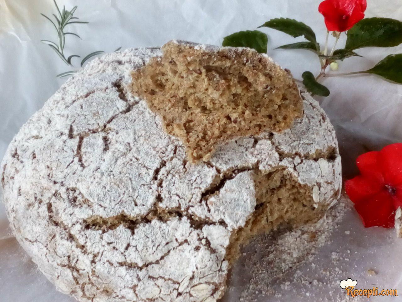 Domaći hleb bez kvasca sa semenkama
