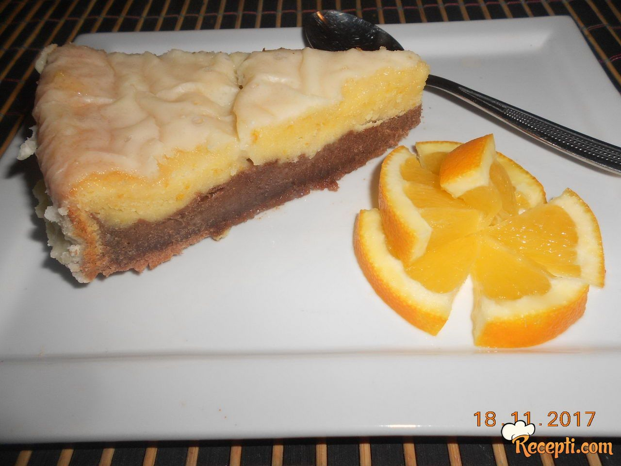 Kolač sa ukusom čokolade i narandže