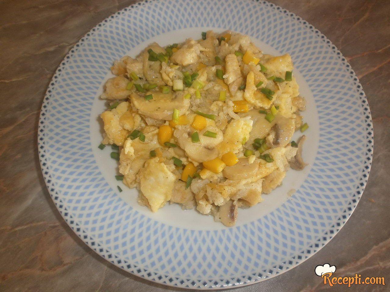 Piletina sa povrćem i jajima