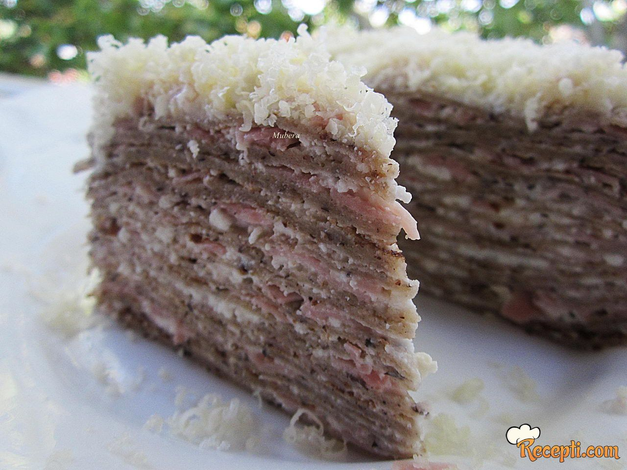 Slana torta od palačinki i heljdinog brašna