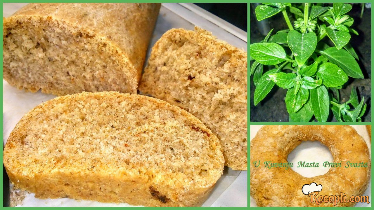 Slani kuglof sa bosiljkom i paradajzom & Salted bread with basil and tomato