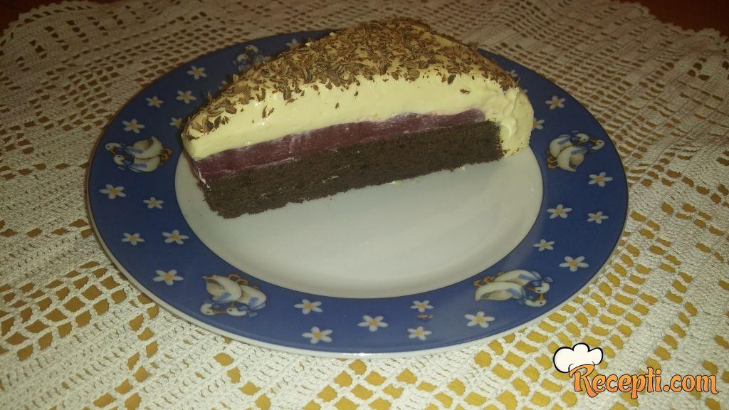 Malina torta sa belom čokoladom