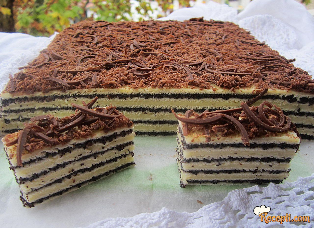 Rozen kolač-mak-vanila