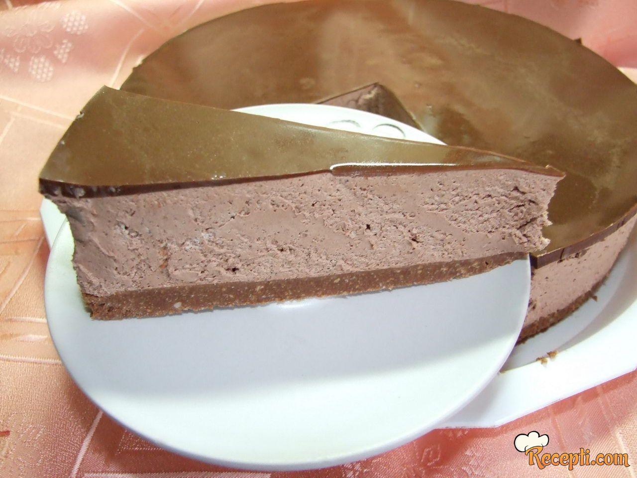 Čoko cheesecake (ciz kejk)