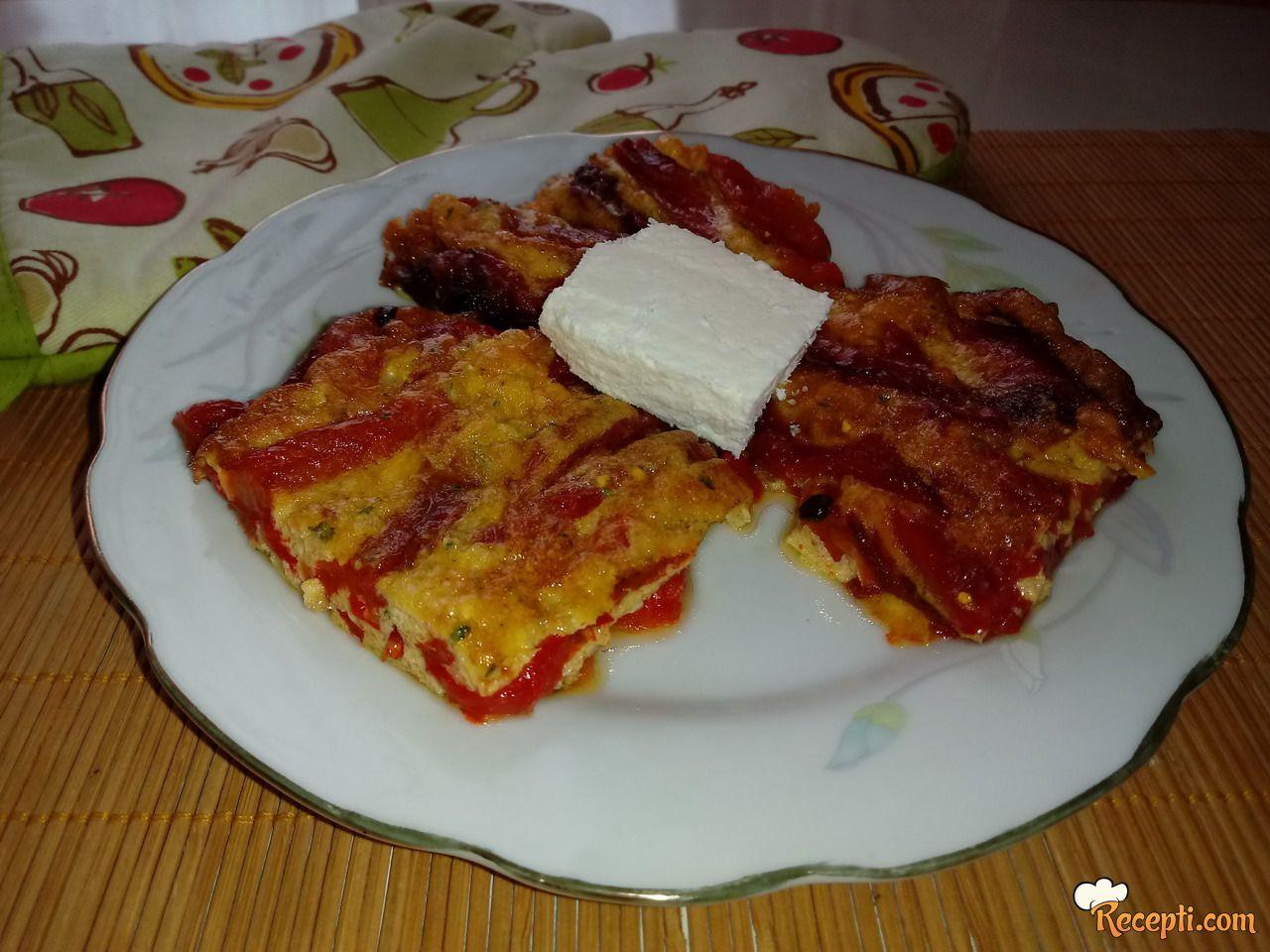 Zapečena pečena paprika