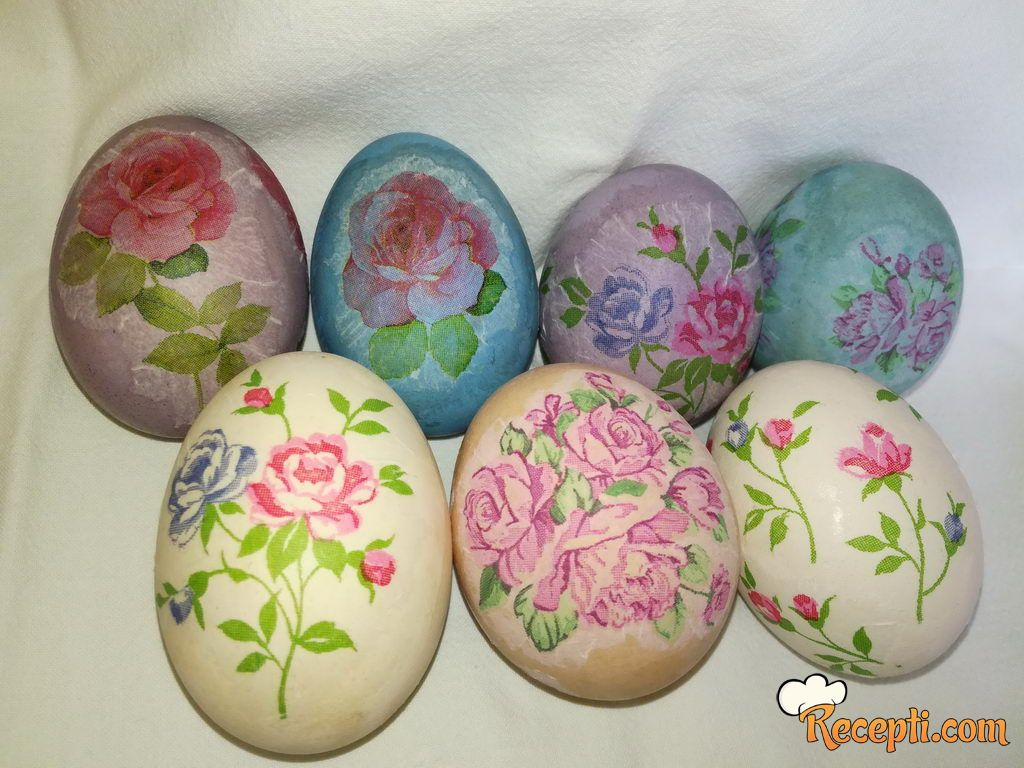 Priprema i ukrašavanje jaja dekupaž tehnikom