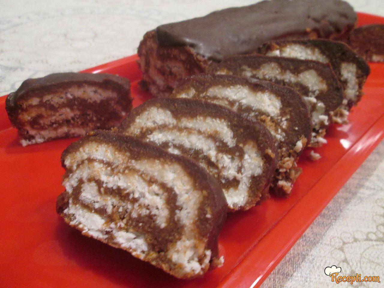 Čokoladni rolat sa kokosom