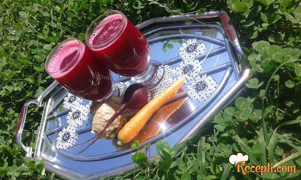 Sok od šargarepe i cvekle