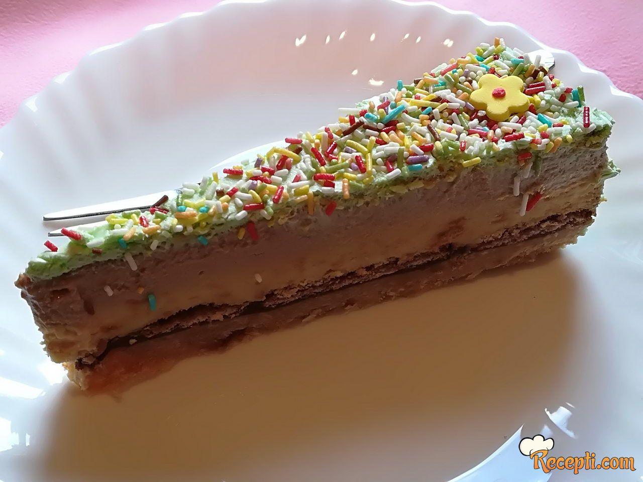 Keks torta sa lešnicima