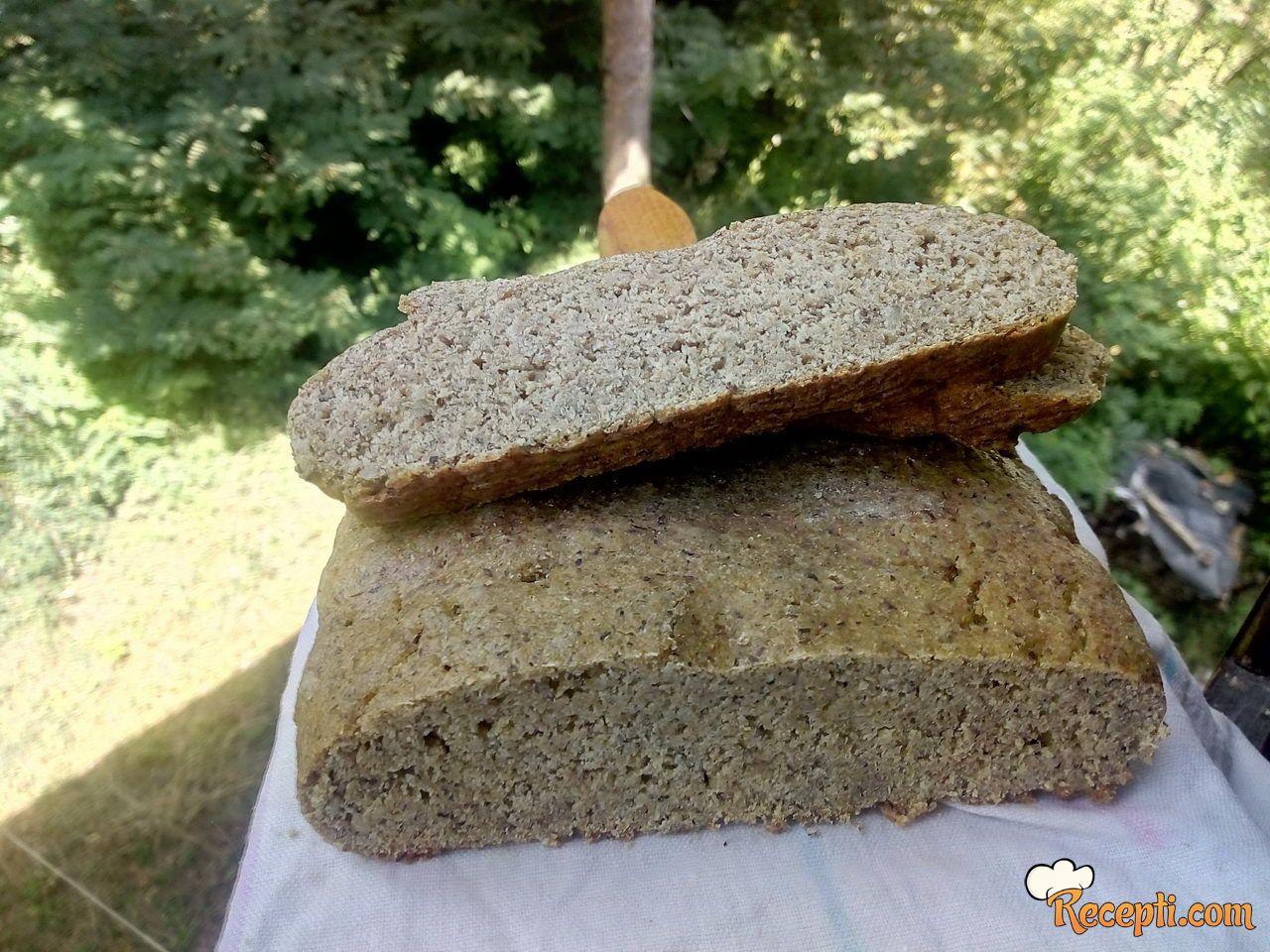 Hrono hleb sa limunom i kukuruznim brašnom