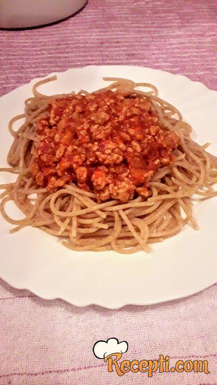 Bolonjeze sa integralnim špagetama