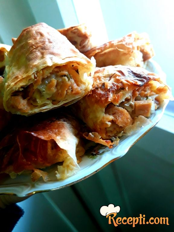 Posna pita sa krompirom, sojom i lukom