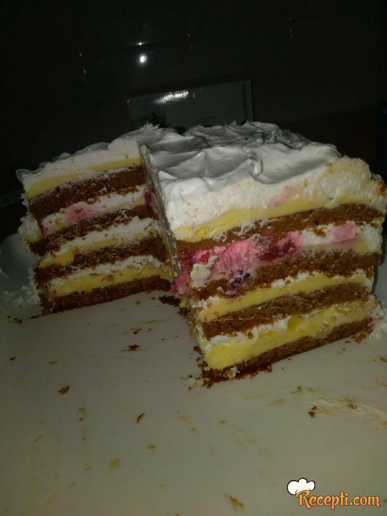 Posna čoko-voćna torta