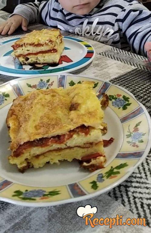 Slana torta (muska) od pečenih paprika