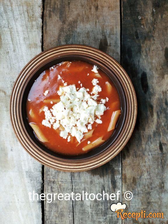 Čorba od paradajza i prevrelog sira